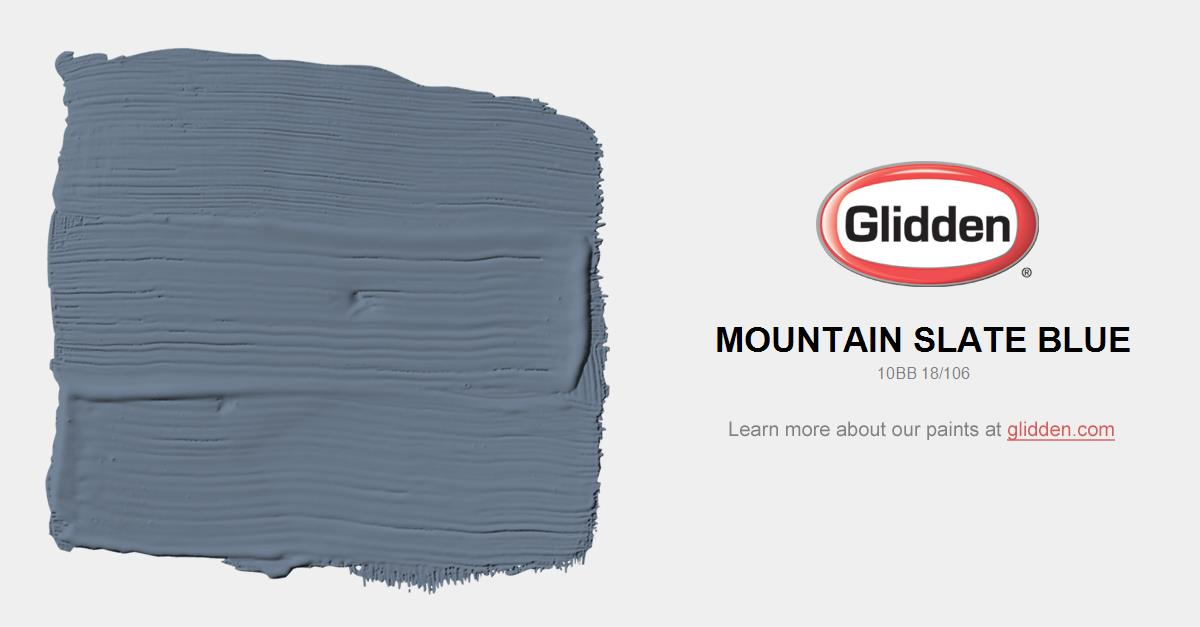 Mountain Slate Blue Paint Color Glidden Paint Colors