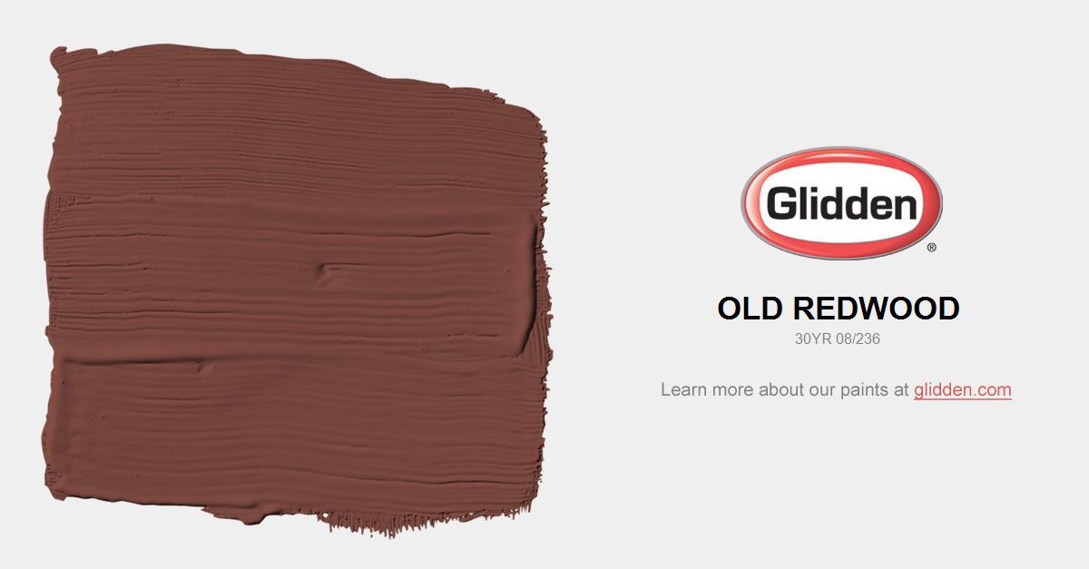 Old Redwood Paint Color Glidden Paint Colors