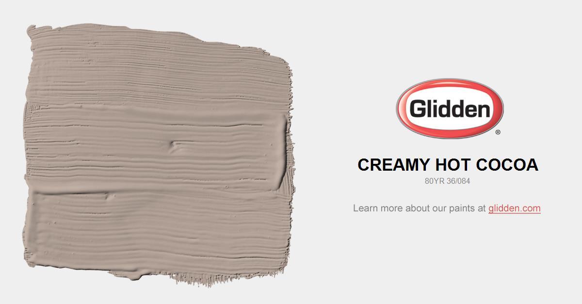 Creamy Hot Cocoa Paint Color - Glidden Paint Colors