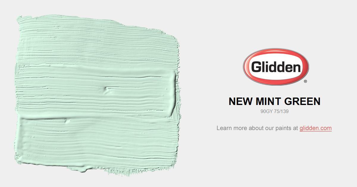 New Mint Green Paint Color Glidden Paint Colors