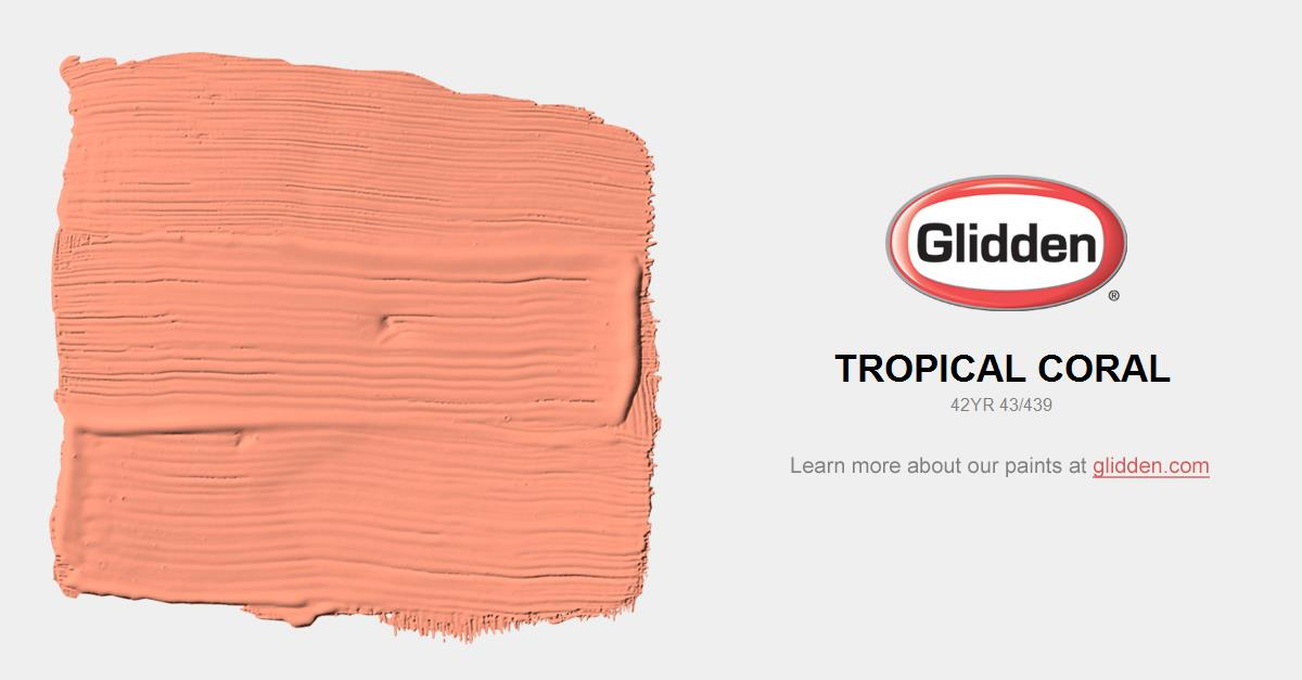 Tropical Coral Paint Color Glidden Paint Colors