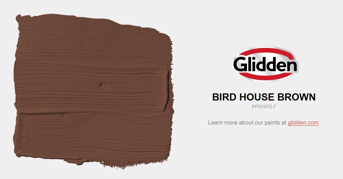 Bird House Brown Paint Color Glidden Paint Colors