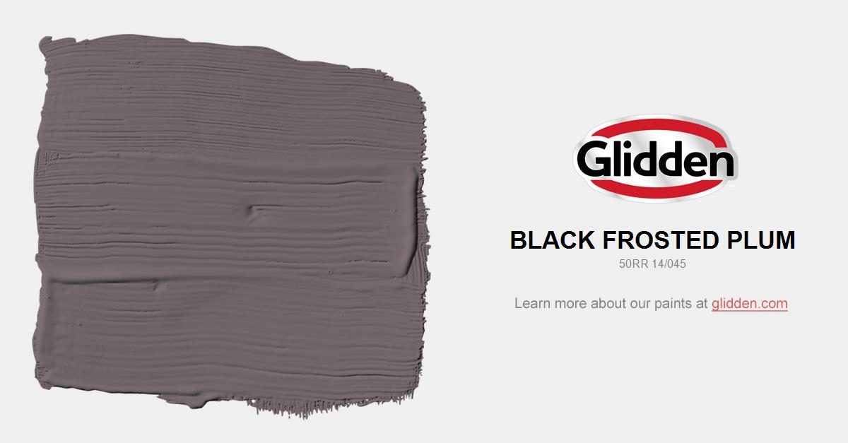 Black Frosted Plum Paint Color - Glidden Paint Colors