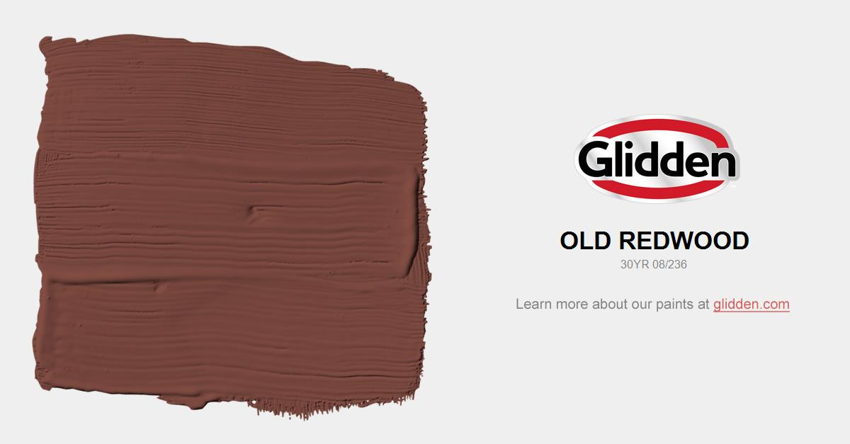 Old Redwood Paint Color Glidden Paint Colors