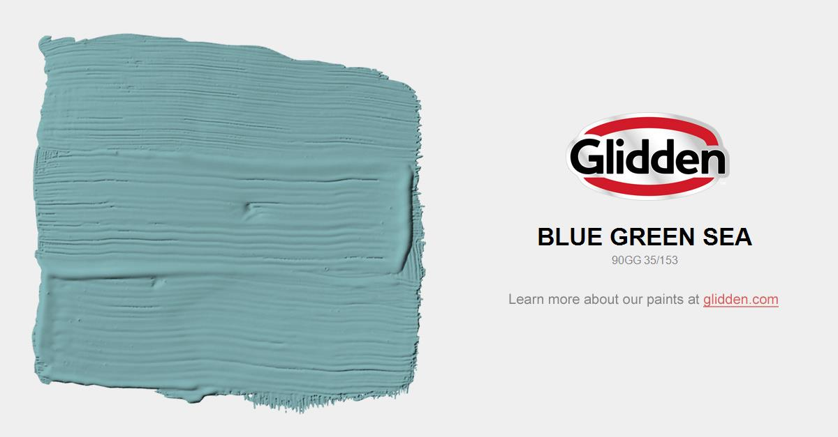 Blue Green Sea Paint Color Glidden Paint Colors