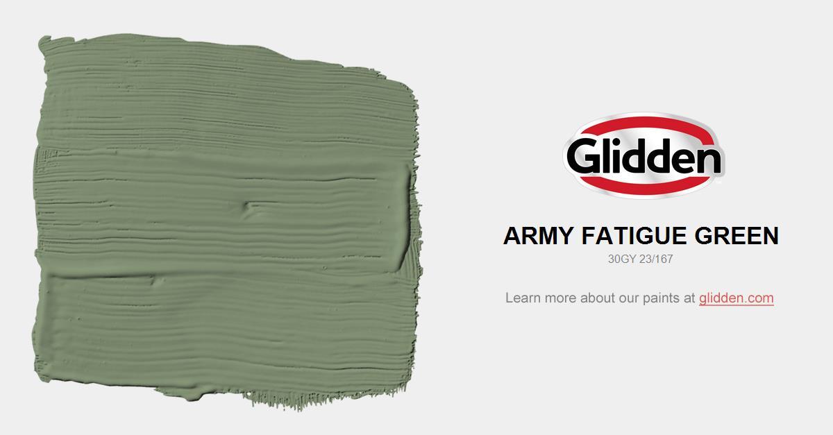 c87ceb3d Army Fatigue Green Paint Color - Glidden Paint Colors