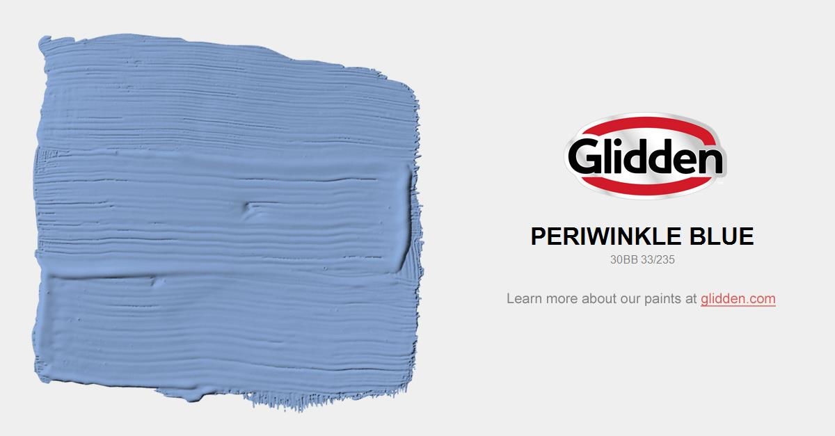 Periwinkle Blue Paint Color Glidden Paint Colors