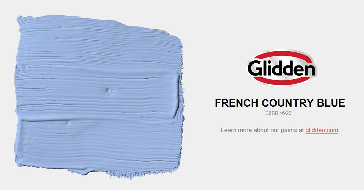 French Country Blue Paint Color Glidden Paint Colors