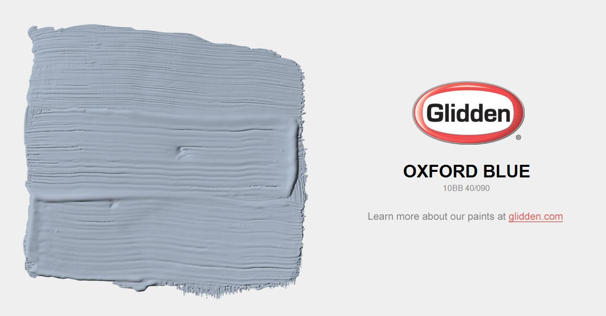 Oxford Blue Paint Color Glidden Paint Colors