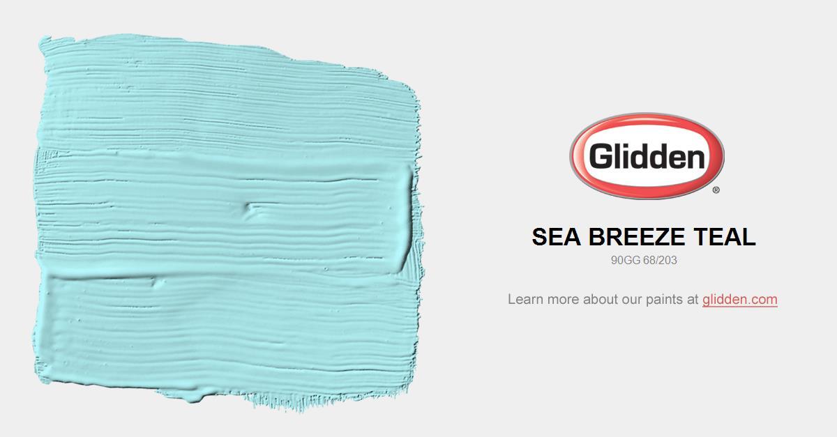 Sea Breeze Teal Paint Color - Glidden Paint Colors