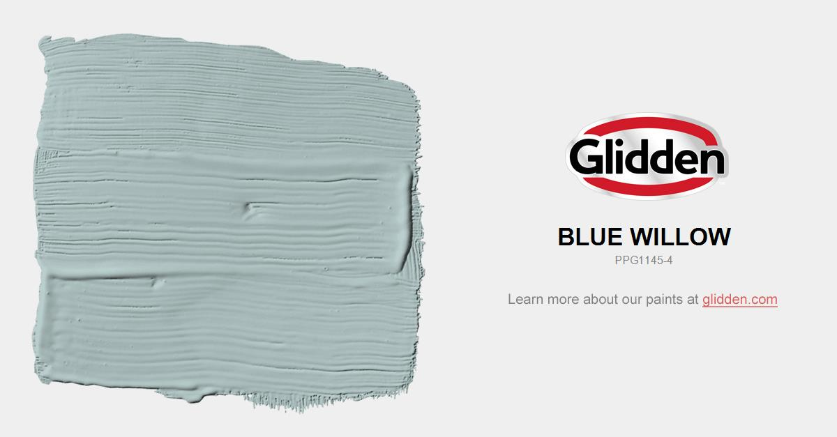 Blue Willow Paint Color Glidden Paint Colors