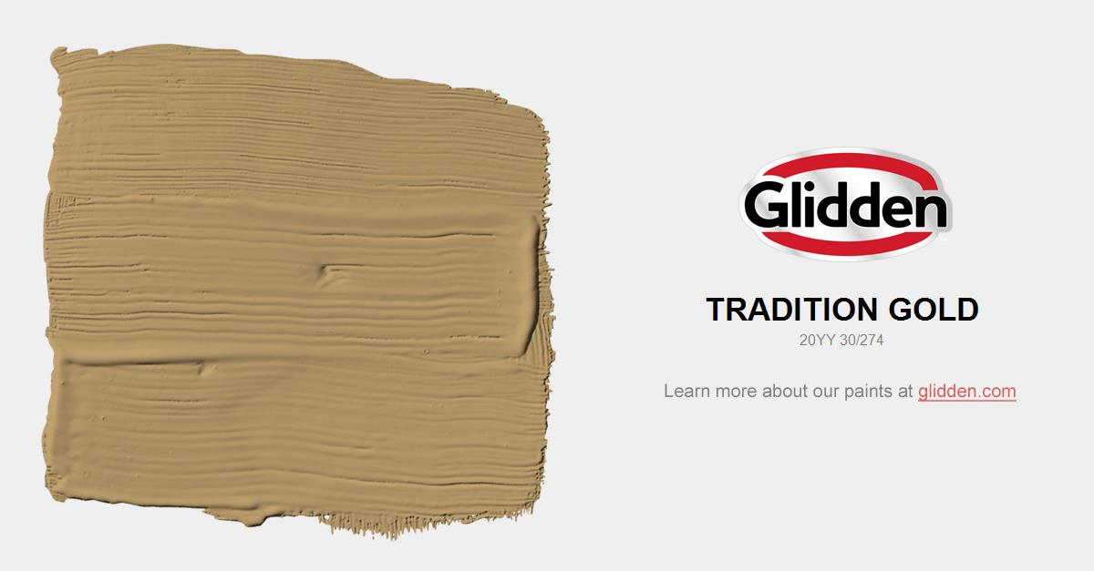 Gold Paint Colors >> Tradition Gold Paint Color Glidden Paint Colors