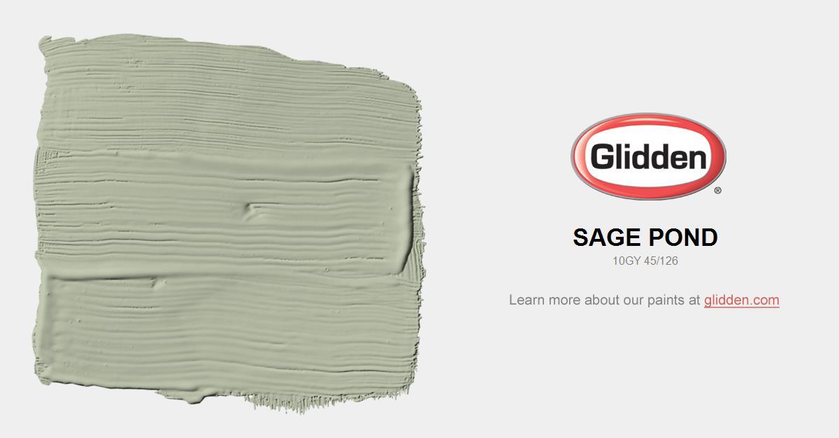 sage pond paint color glidden paint colors