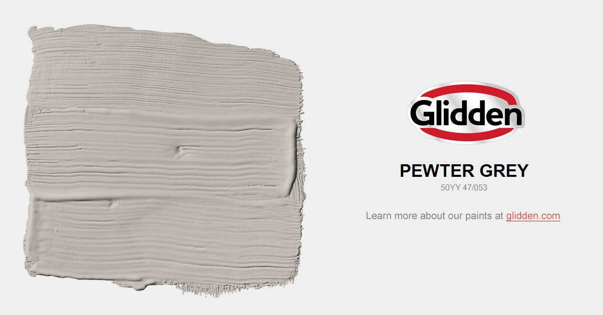 Pewter Grey Paint Color Glidden Colors
