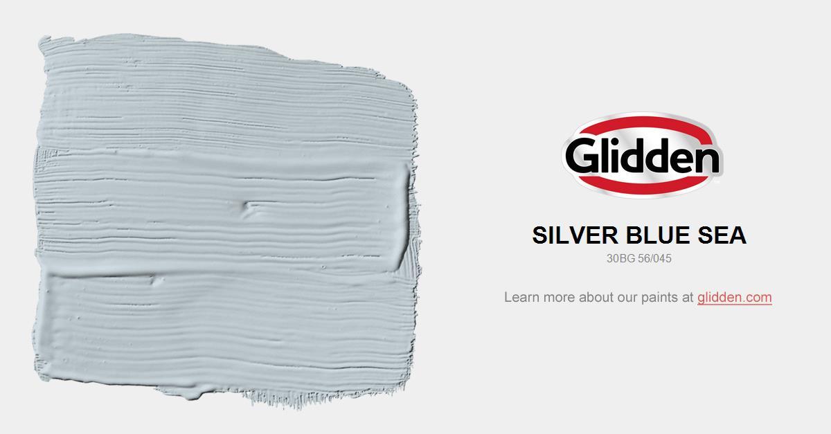 silver blue sea paint color glidden paint colors