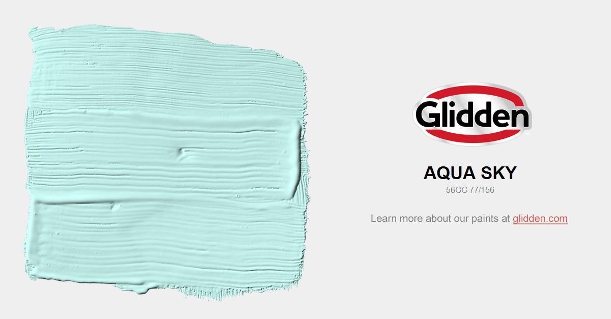 Aqua Sky Paint Color Glidden Paint Colors