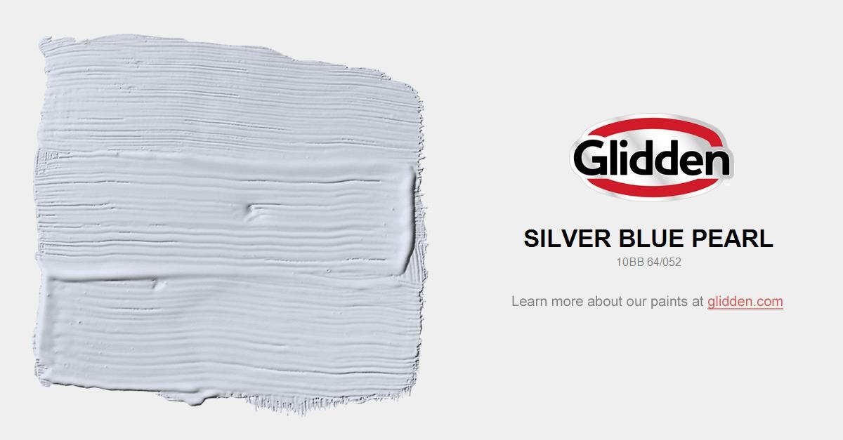 silver blue pearl paint color glidden paint colors