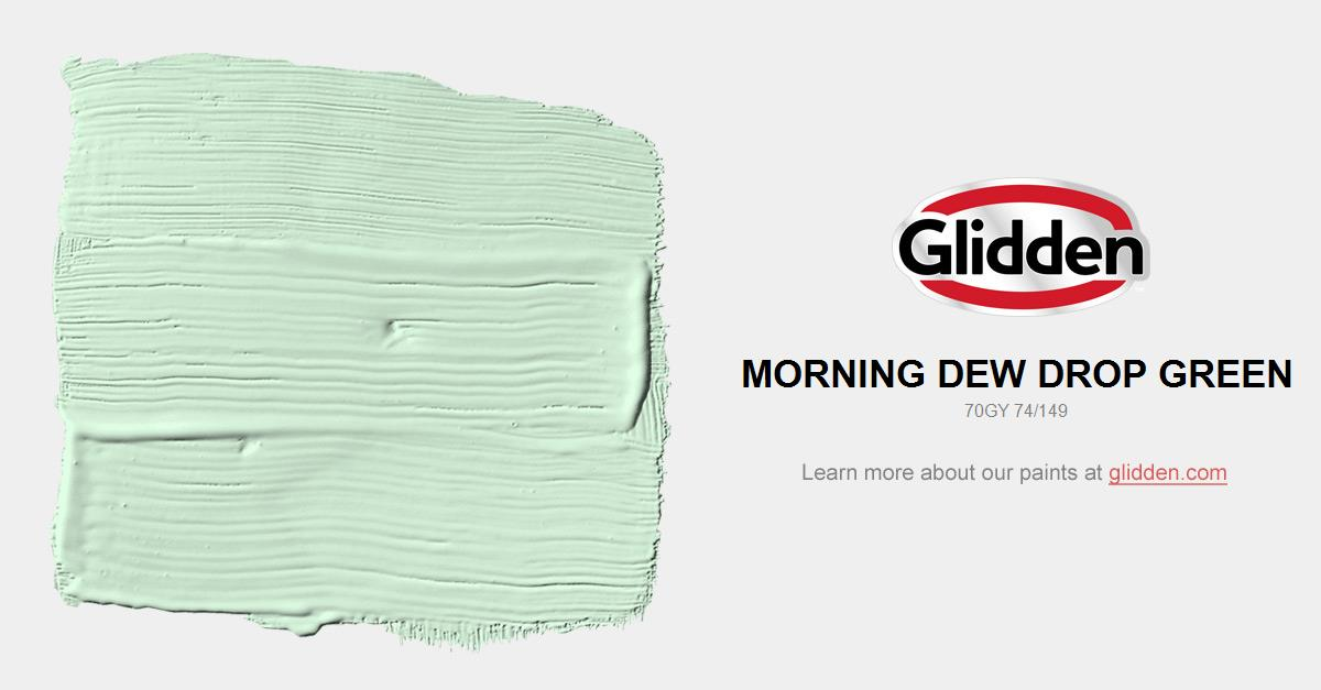 Morning Dew Drop Green Paint Color Glidden Paint Colors