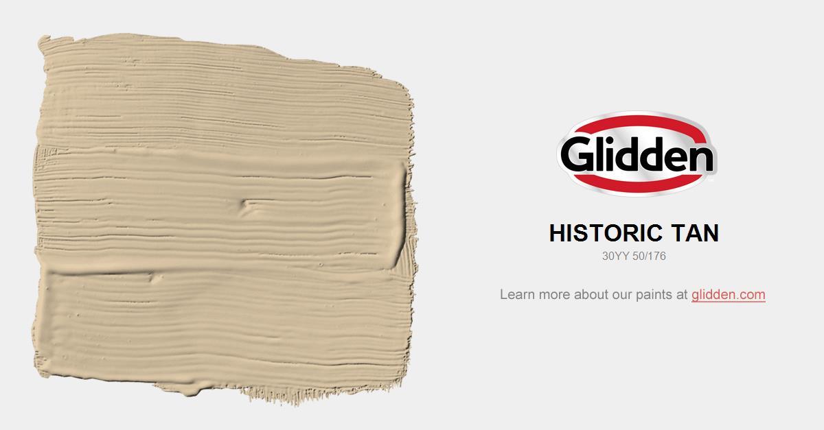 Historic Tan Paint Color Glidden Paint Colors