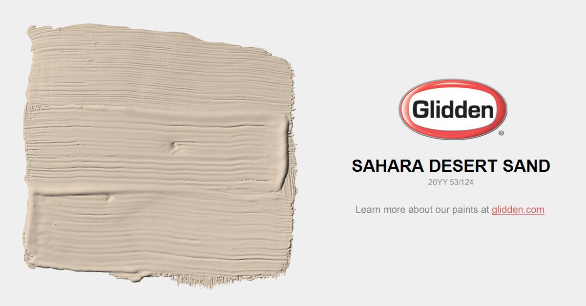 Brand-new Sahara Desert Sand Paint Color - Glidden Paint Colors LO04