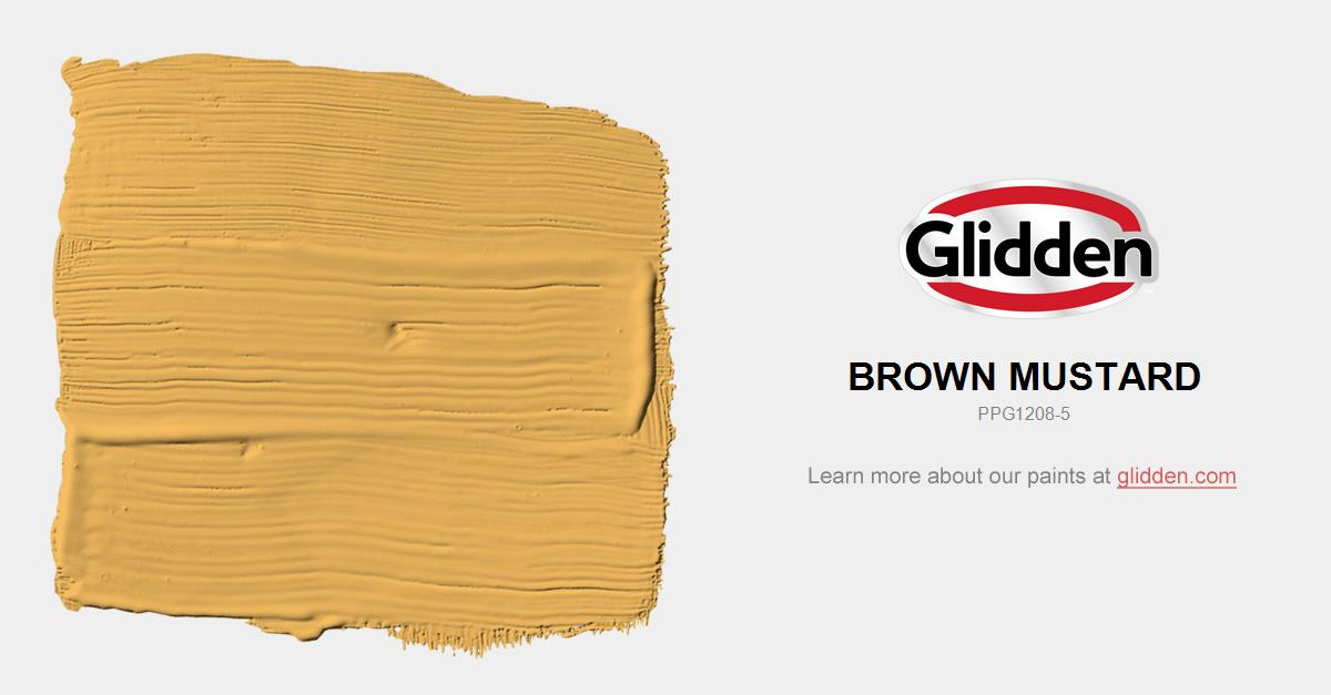 Brown Mustard Paint Color - Glidden Paint Colors