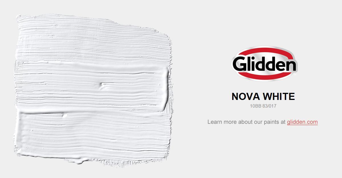 Nova White Paint Color Glidden Paint Colors