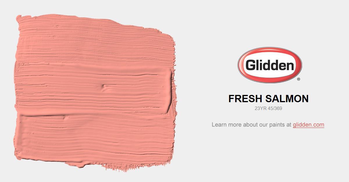 Fresh Salmon Paint Color Glidden Paint Colors