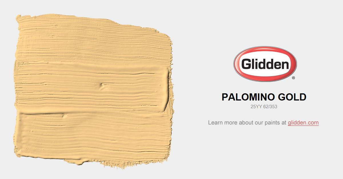 Gold Paint Colors >> Palomino Gold Paint Color Glidden Paint Colors