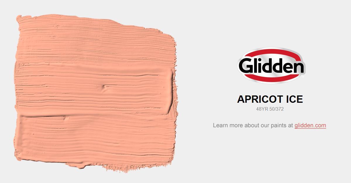 apricot ice paint color glidden paint colors