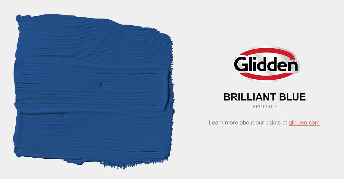 Brilliant Blue Paint Color Glidden Paint Colors