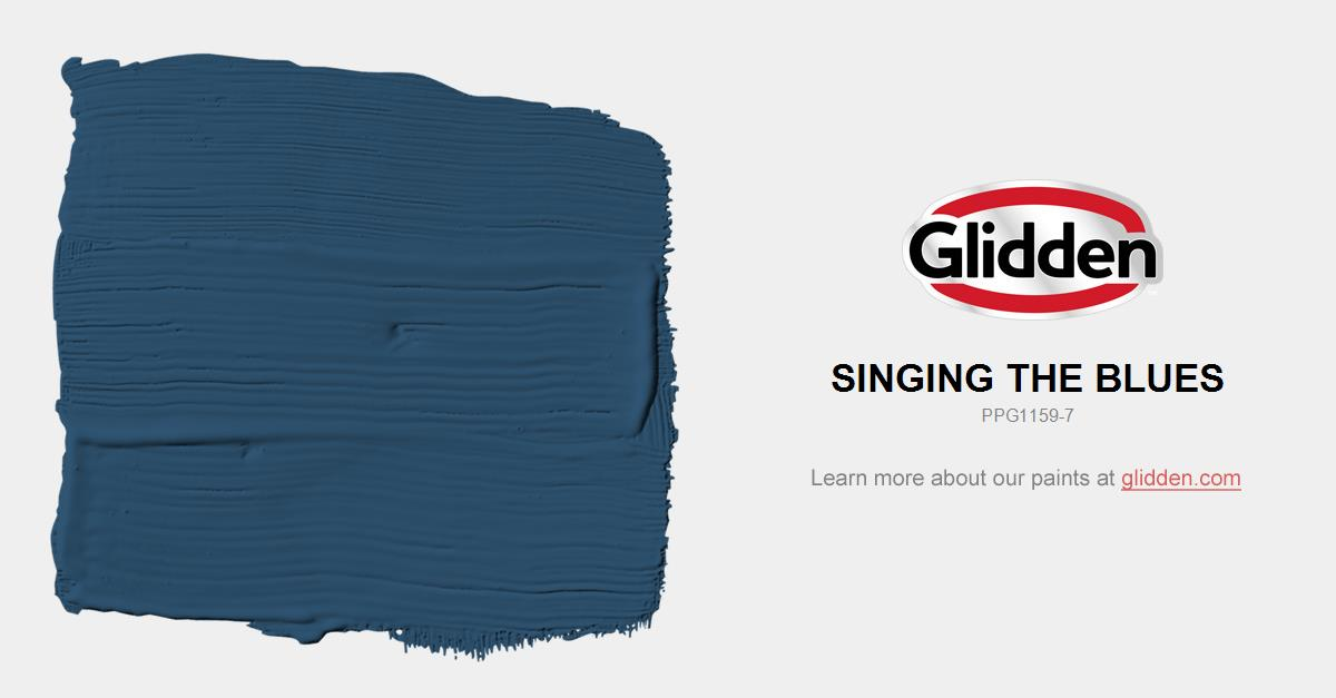 Singing The Blues Paint Color Glidden Paint Colors