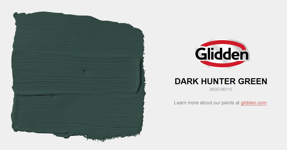 dark hunter green paint color glidden paint colors