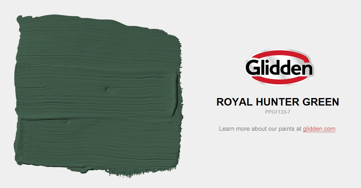 Royal Hunter Green Paint Color Glidden Paint Colors