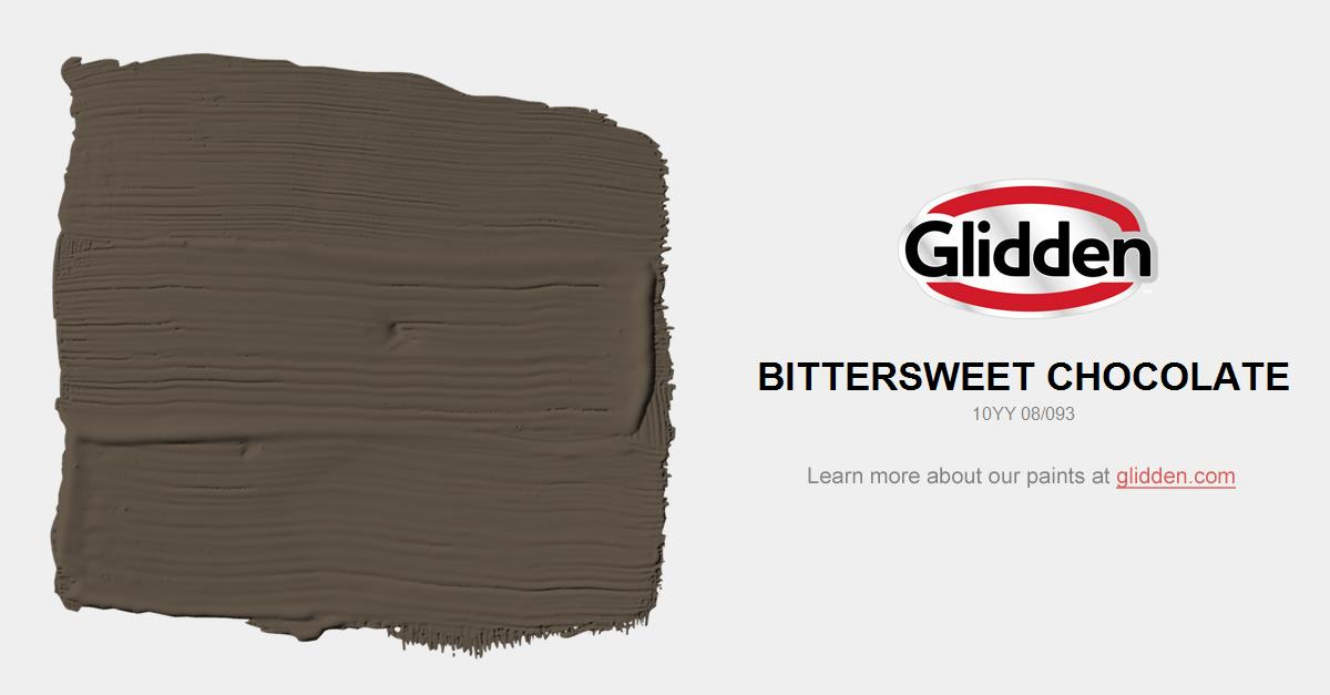 136804635798 Bittersweet Chocolate Paint Color - Glidden Paint Colors