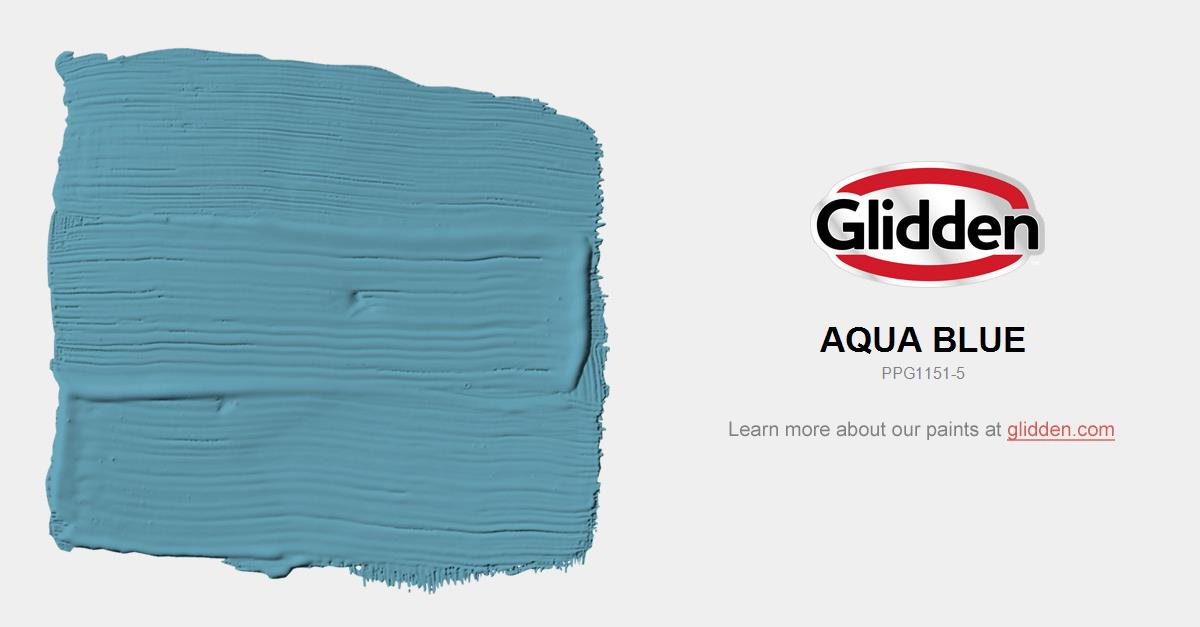 Aqua Blue Paint Color Glidden Paint Colors
