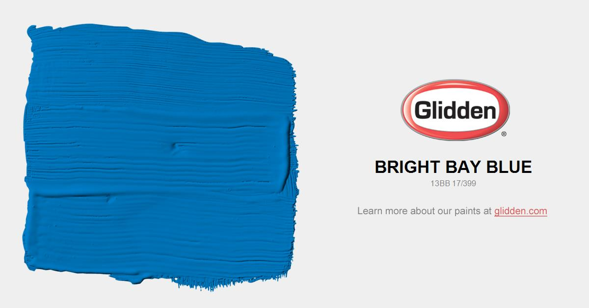 bright bay blue paint color - glidden paint colors