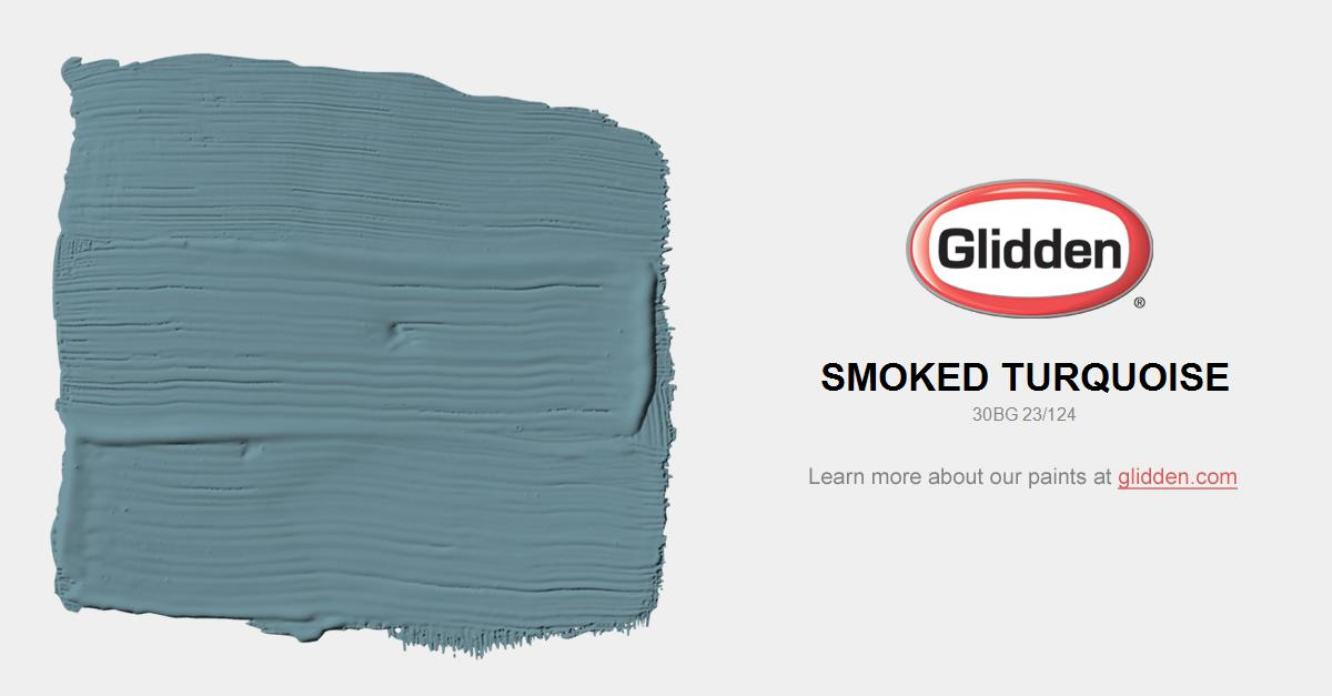 Smoked Turquoise Paint Color - Glidden Paint Colors