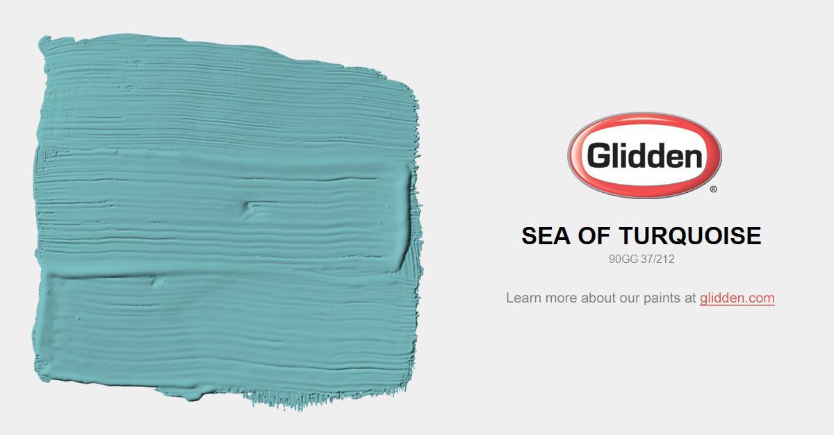 Sea of Turquoise Paint Color Glidden Paint Colors
