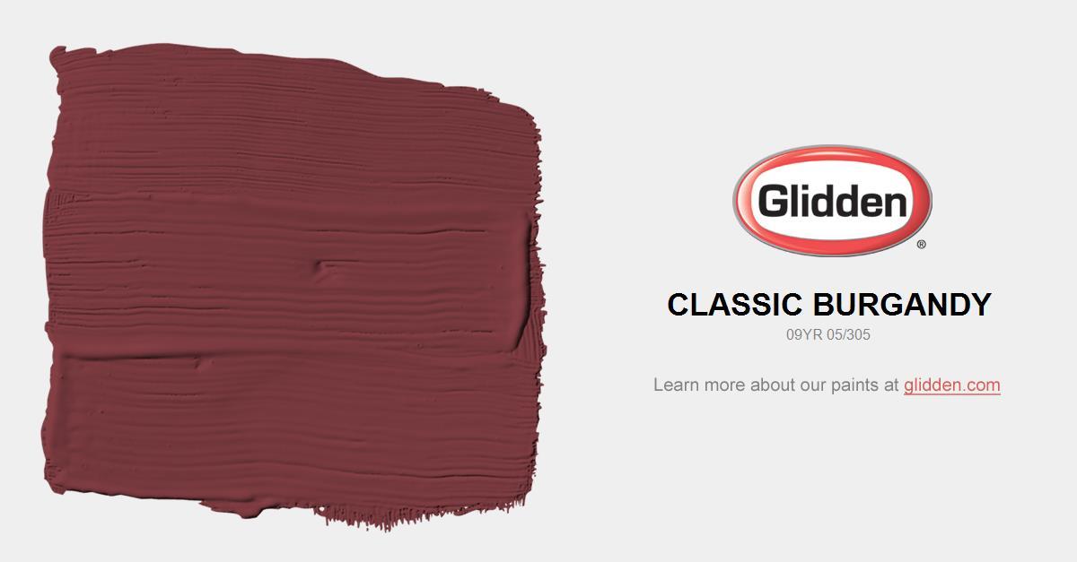 burgundy paint colorsClassic Burgundy Paint Color  Glidden Paint Colors