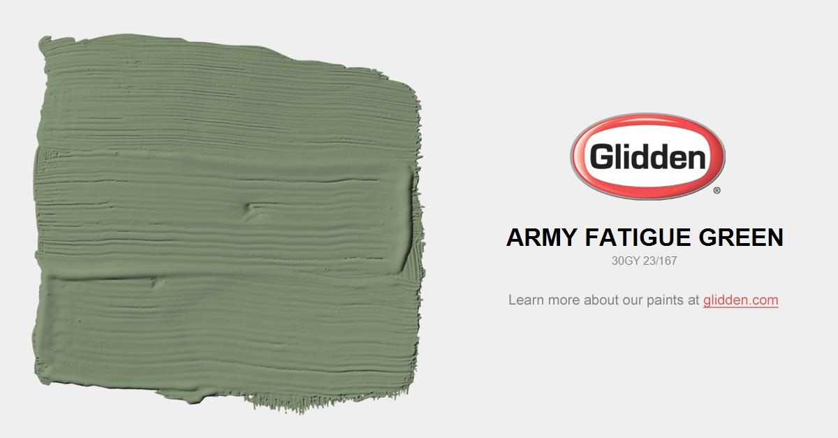 Army Fatigue Green Paint Color