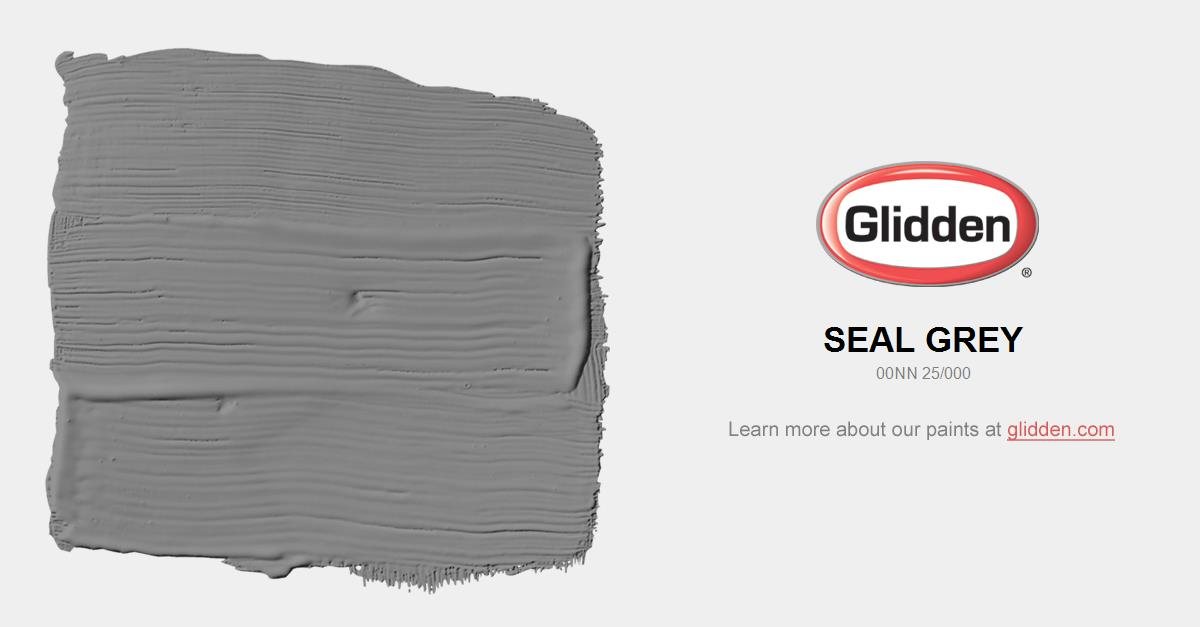 Seal Grey Paint Color Glidden Paint Colors