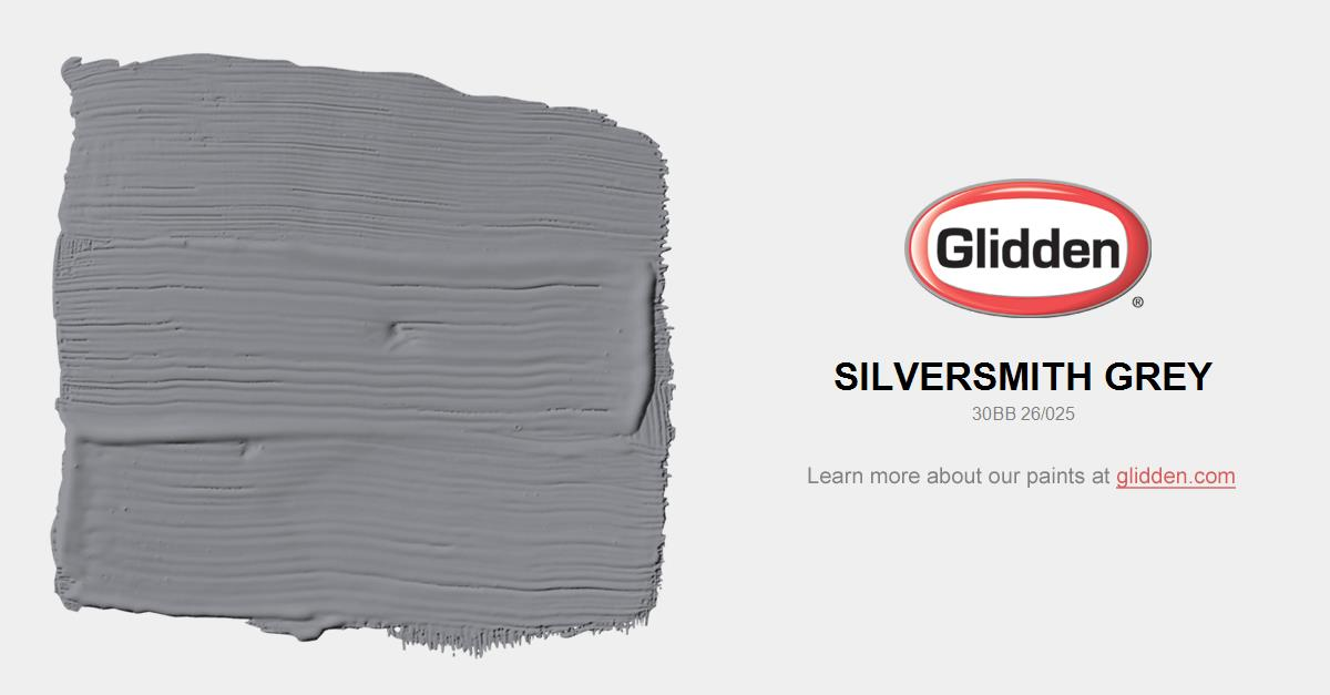 Silversmith Grey Paint Color Glidden Paint Colors