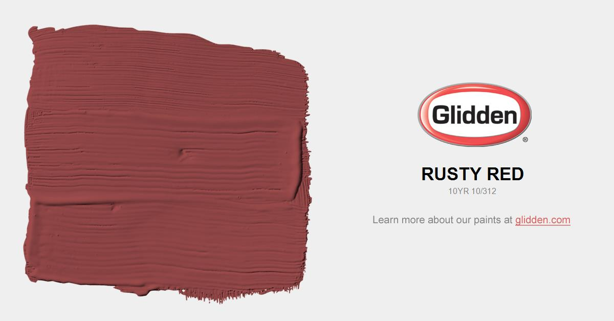 Rusty Red Paint Color Glidden Paint Colors