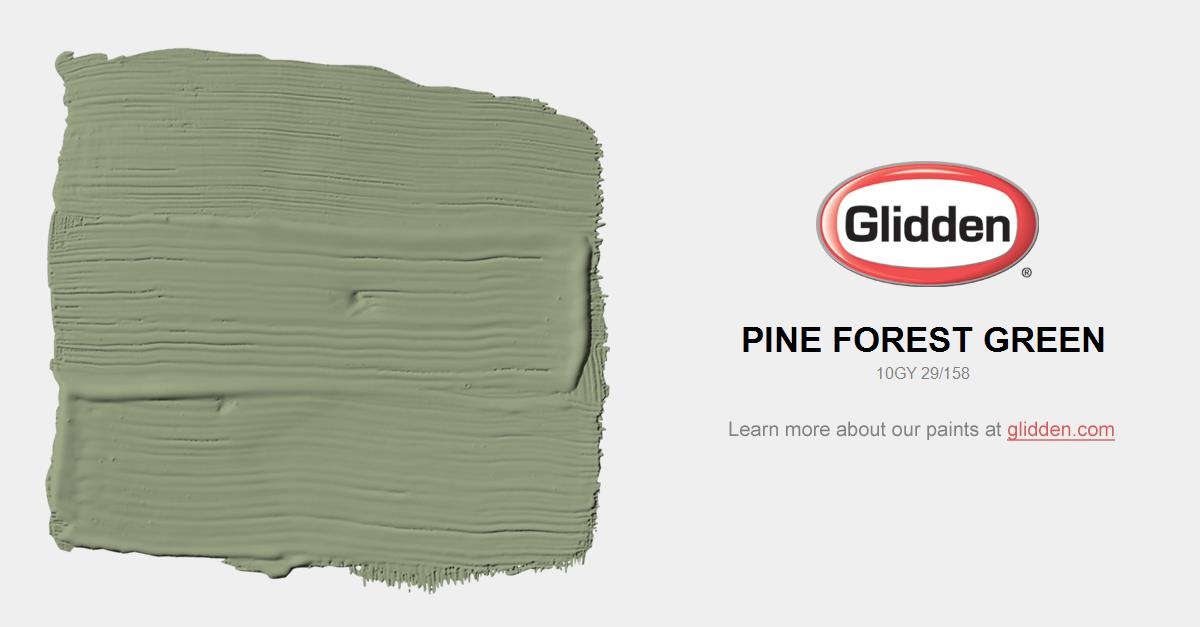 Pine Forest Green Paint Color Glidden Paint Colors