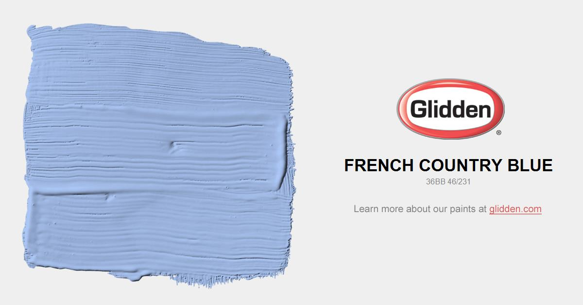 French Country Blue Paint Color Glidden Paint Colors - French country blue