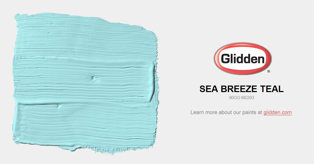 Sea Breeze Teal Paint Color Glidden Paint Colors