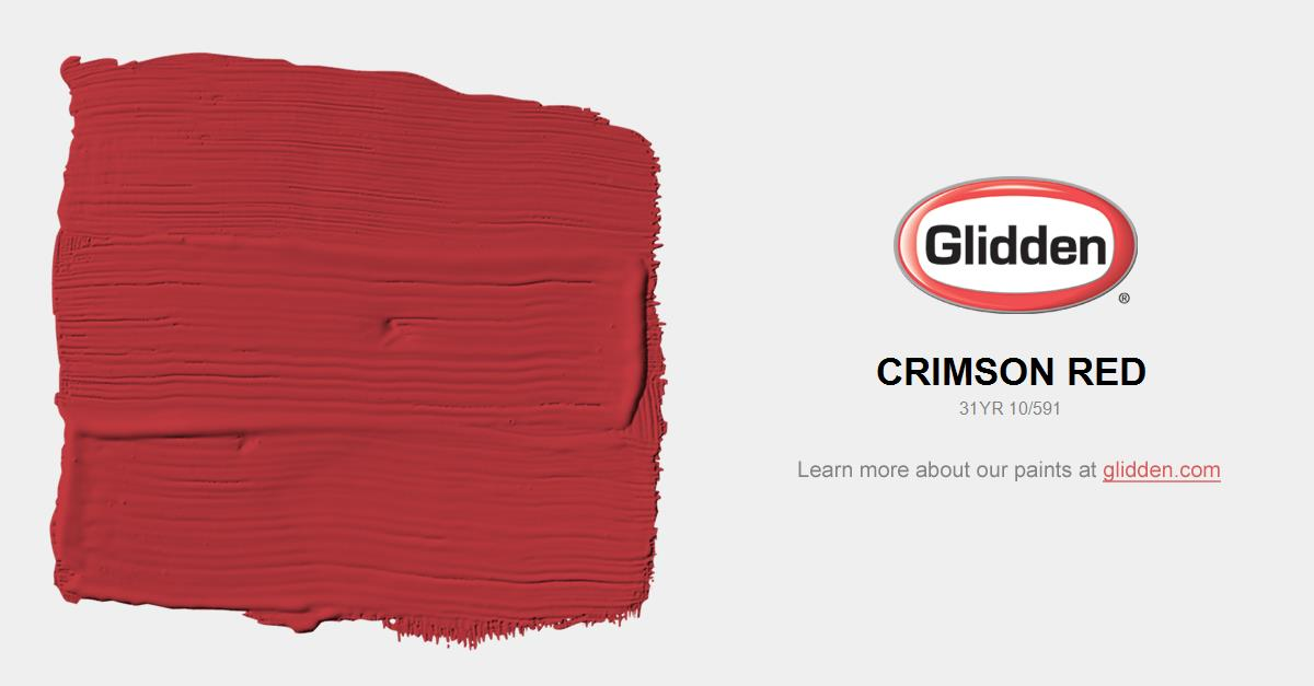 Red Paint Colors crimson red paint color - glidden paint colors