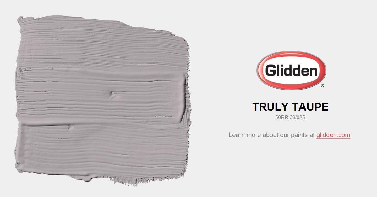 Truly taupe paint color glidden paint colors for What is taupe color look like