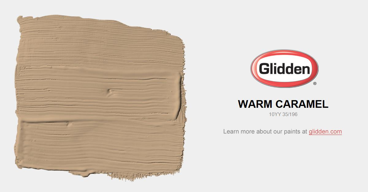 Warm Caramel Paint Color Glidden Paint Colors