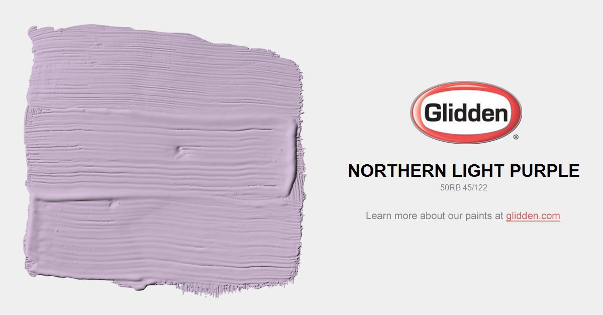 Light Purple Paint Colors northern light purple paint color - glidden paint colors